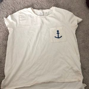 T-shirt with anchor detail